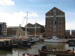 19th century warehouses in Gloucester docks