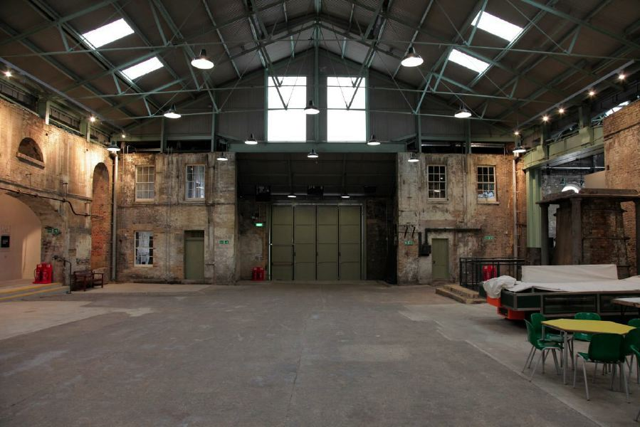 A Warehouse Event Space With A Mix Of Old Warehouse Walls