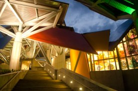 Biomuseo Panama - entrance view (night)