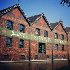 Joule's brewery warehouse at the Trent and Mersey Canal in Stone