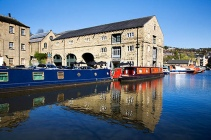 Old Salt Warehouse at Canal Wharf Sowerby Bridge West Yorkshire