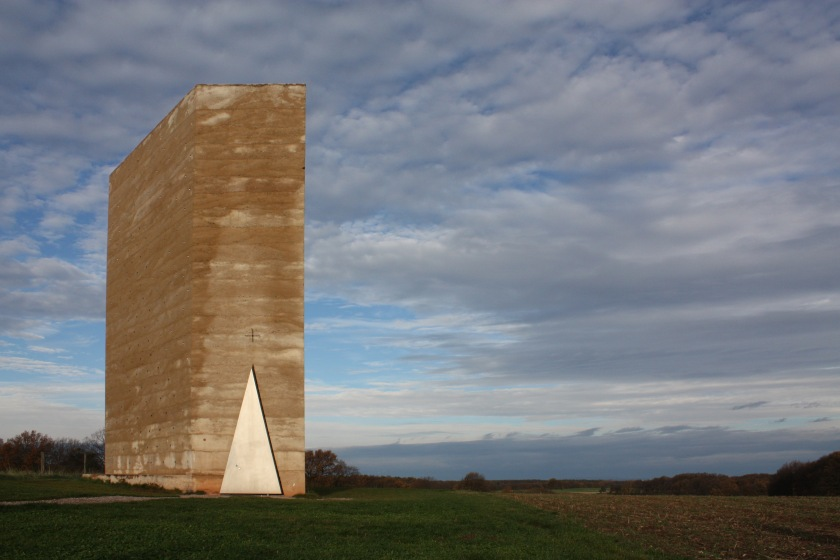 Zumthor Field chapel - panoramic view(dawn)