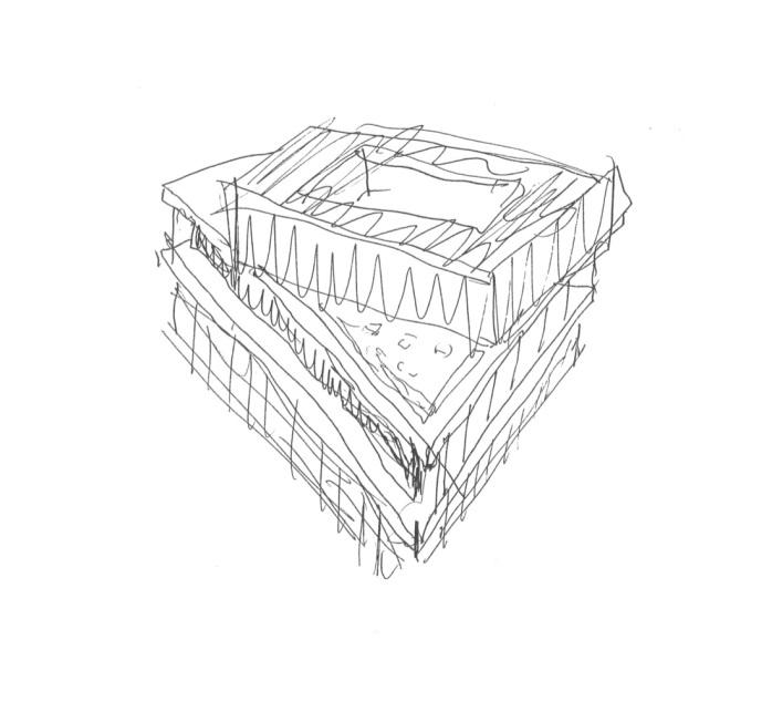 Acropolis Museum, Athens – Sketch