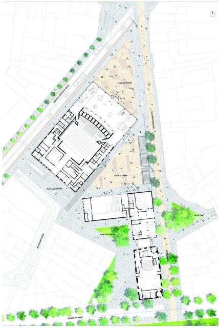 ALBI, Grand Theatre | Dominique Perrault - site plan