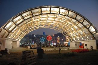 Hong Kong Bi-City Pavilion | Shenzhen, China | 2009 © Shigeru Ban
