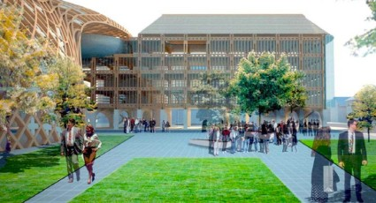 image © swatch group_renderings show the green public spaces and plazas