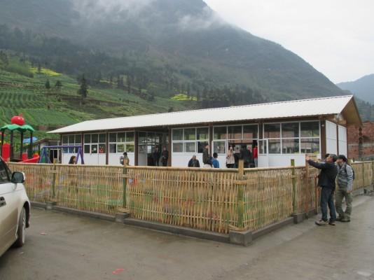 Paper Nursery School | Ya'an City, Sichuan, China | 2013 © Shigeru Ban