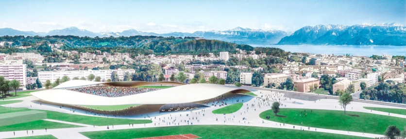 Lausanne FC stadium, SANAA - competition render V