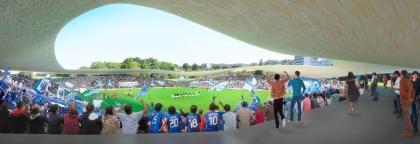 Lausanne FC stadium, SANAA - competition render IV