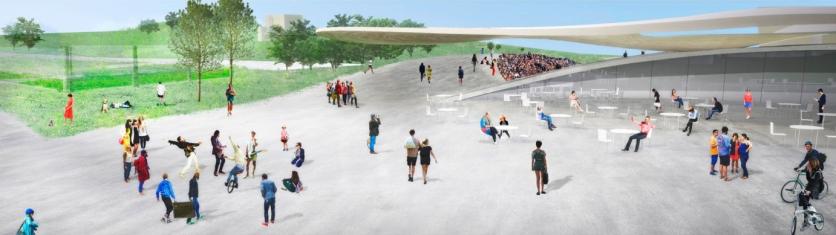 Lausanne FC stadium, SANAA - competition render III