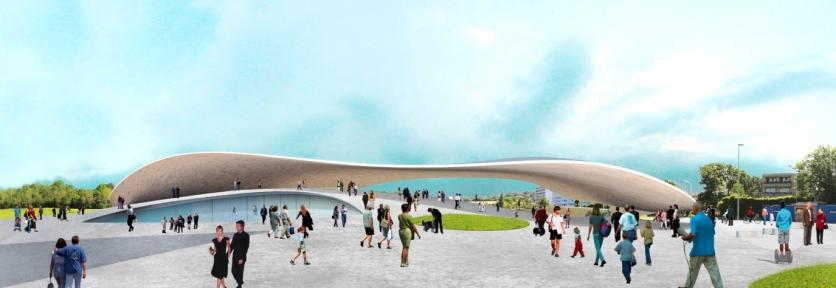 Lausanne FC stadium, SANAA - competition render II