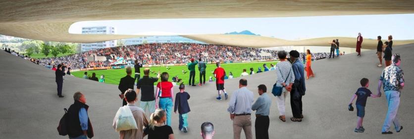Lausanne FC stadium, SANAA - competition render