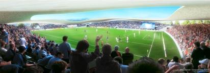 Lausanne FC stadium, SANAA - competition render VI