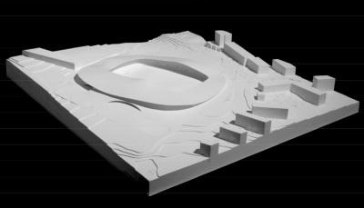 Lausanne FC stadium, SANAA - competition model II