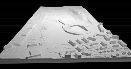 Lausanne FC stadium, SANAA - competition model