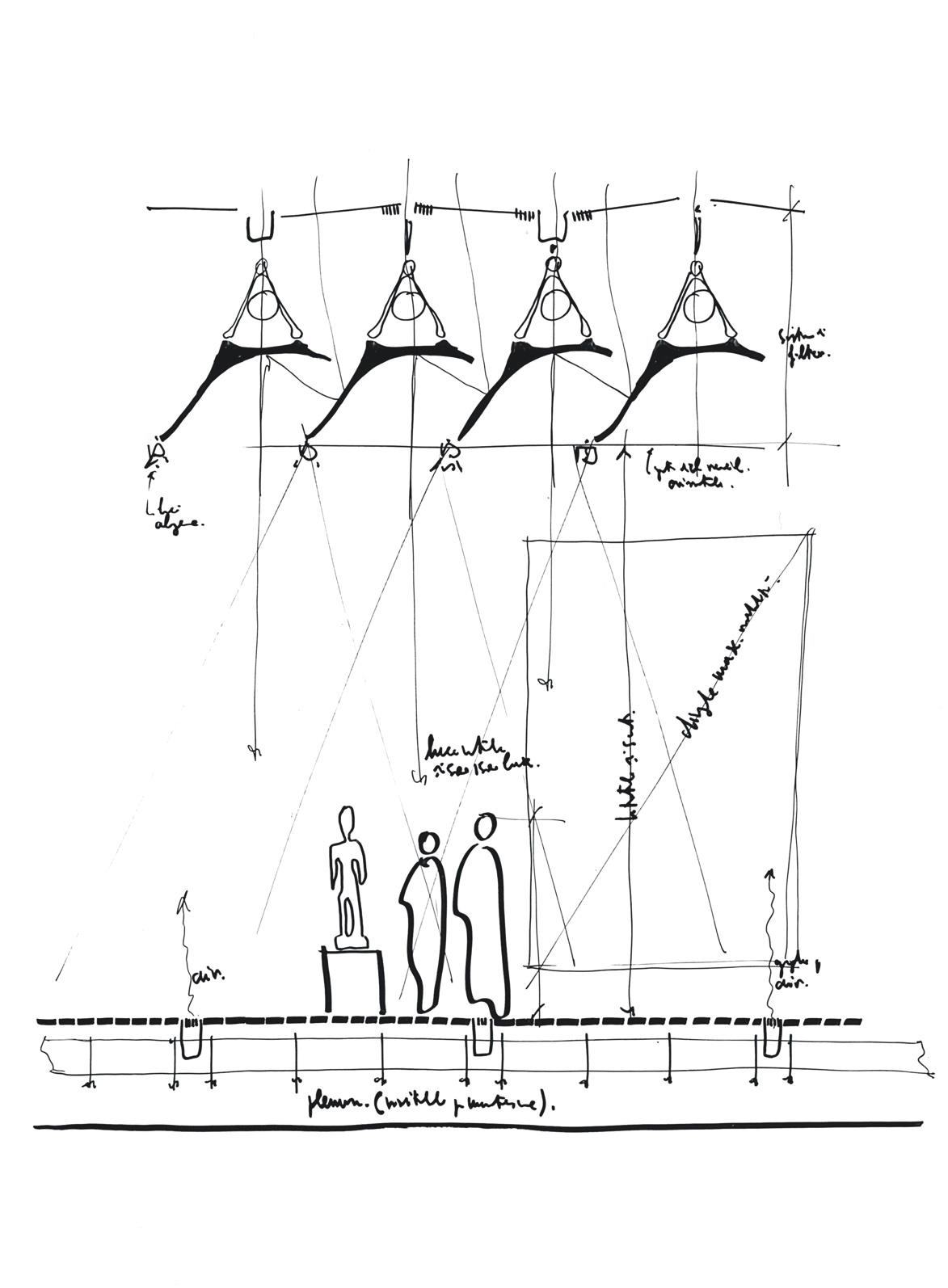 Renzo Piano Menil Collection Sketch