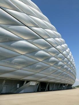 Herzog+DeMeuron | Allianz arena, shell closeup view