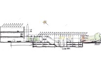 Renzo Piano - Resnick Pavilion, sketch