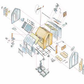 Diogene, Vitra Campus - Renzo Piano (Exploded Axonometry)