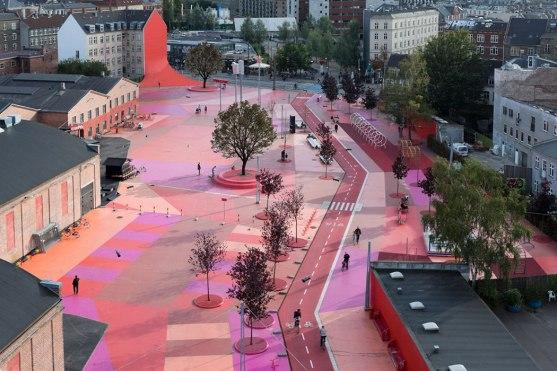 Superkilen Red Square, Copenhagen - BIG 1