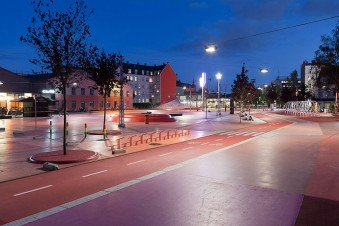 Superkilen Red Square, Copenhagen - BIG 10