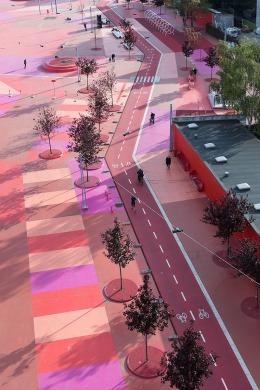 Superkilen Red Square, Copenhagen - BIG 12