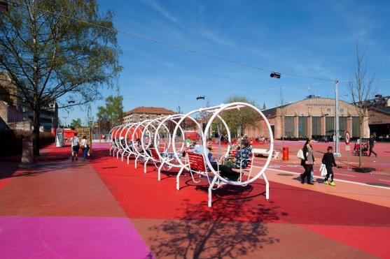 Superkilen Red Square, Copenhagen - BIG 16