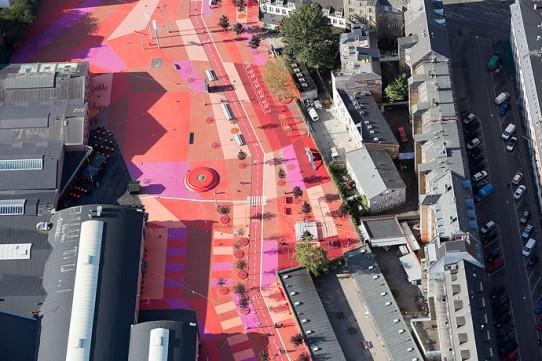 Superkilen Red Square, Copenhagen - BIG 2
