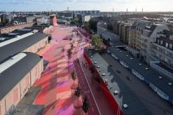 Superkilen Red Square, Copenhagen - BIG 3
