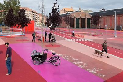 Superkilen Red Square, Copenhagen - BIG 6