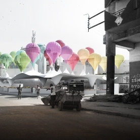 Casablanca Sustainable Market Square - third prize - variou s architects