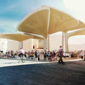 Casablanca Sustainable Market Square - winnig proposal - TomDavid Architects