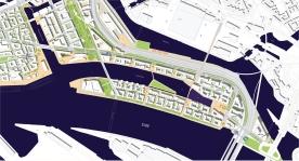 Hafen City - green areas