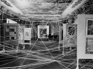 Duchamp - Miles of string exhibition